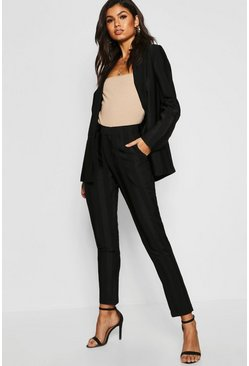 Womens Black Striped Tailored Blazer