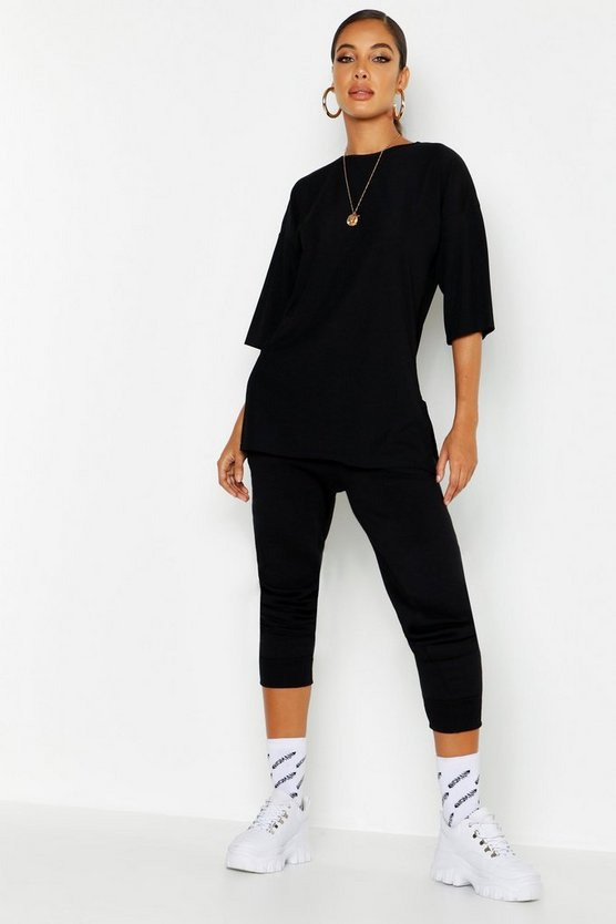 Basic Rib Oversized T-Shirt