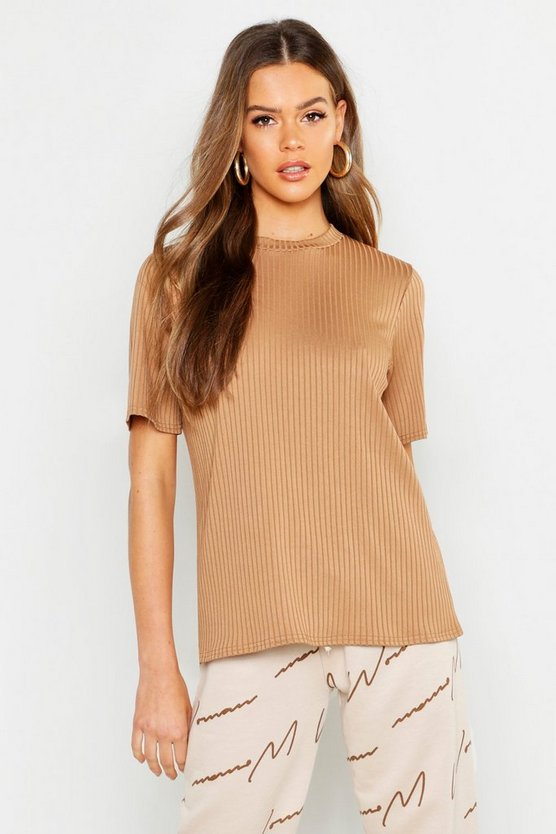 T-shirt basic oversize a coste