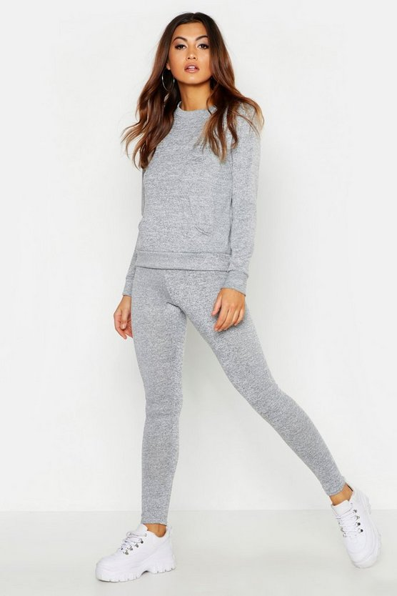 Pocket Front Knitted Lounge Set