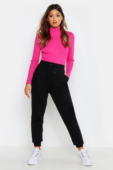 Womens Black Basic Sweat Jogger