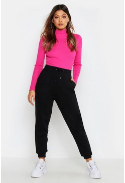 Basic Sweat Jogger, Black, Donna