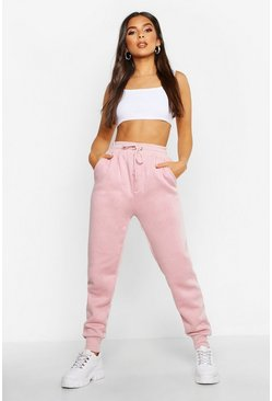 Basic Sweatpants mit Tunnelzug, Dusky pink