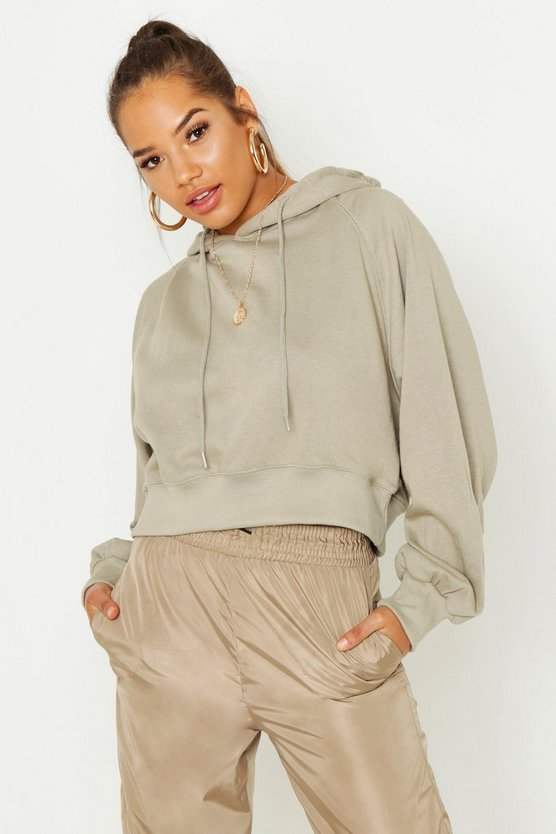 Womens Cropped Hoody