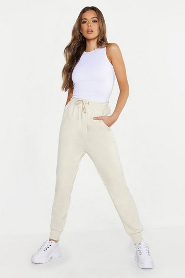 Womens Ecru Basic Jogger