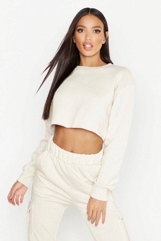 Cropped Crew Neck Sweat