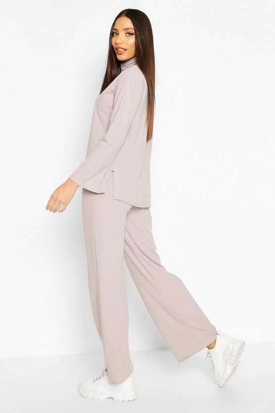 Roll Neck T-Shirt + Trouser Co-Ord