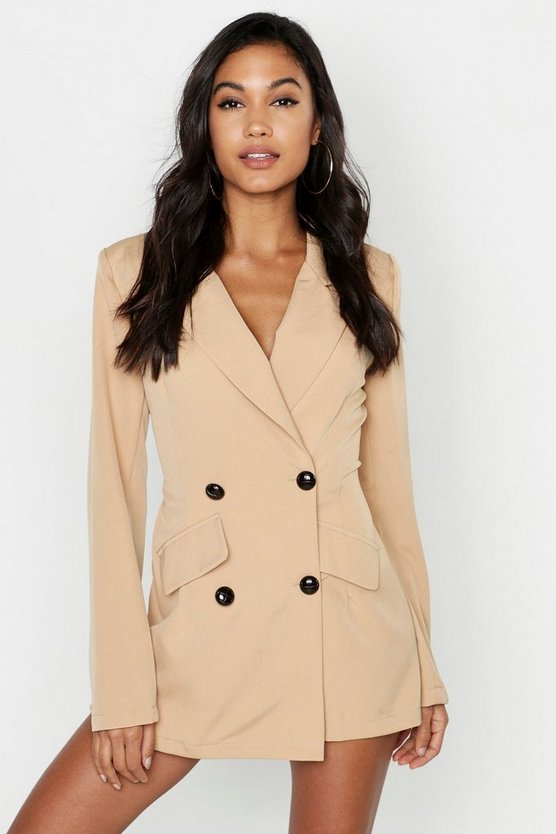 Blazer-Playsuit mit Skort und Safari-Design, Sand, Damen