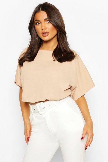 Camel Slash Neck Bodysuit