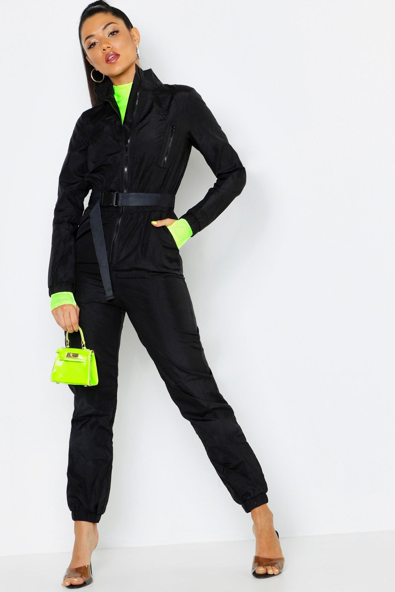Shell Suit Safety Buckle Jumpsuit