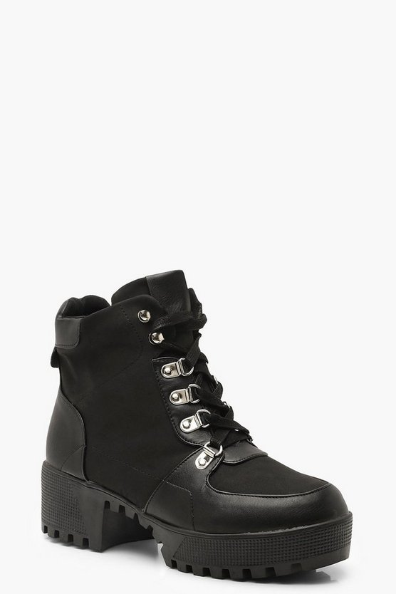 Lace Up Chunky Hiker Boots