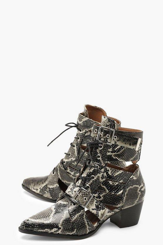 Snake Cutwork Western Boots