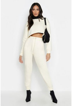 Womens Ecru Basic Sweat Jogger