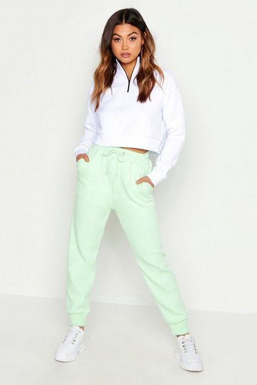 Womens Washed lime Basic Sweat Jogger