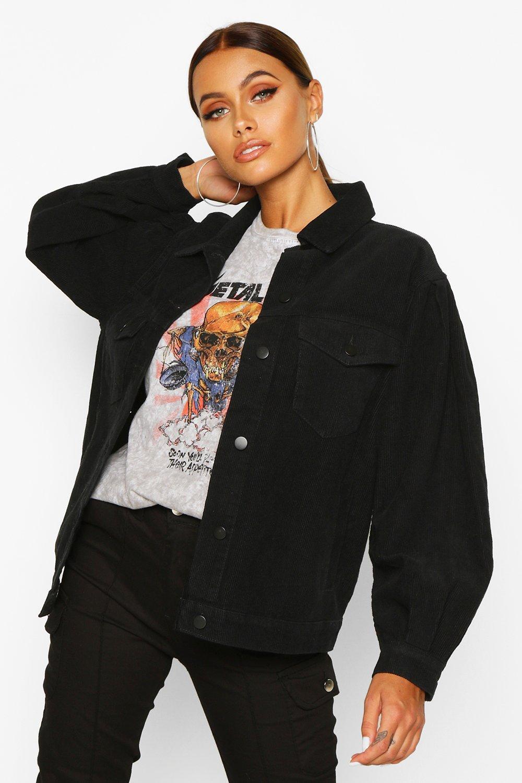 Cord Balloon Sleeve Jacket