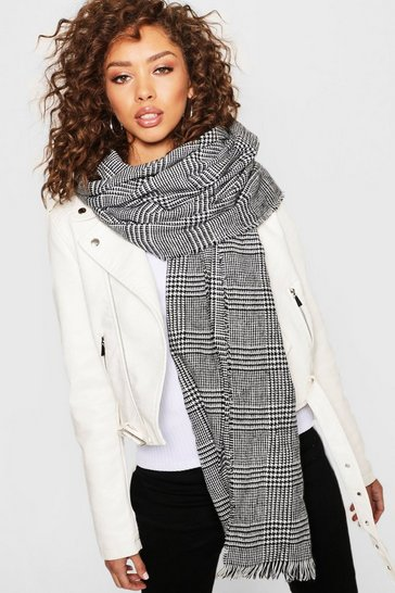 Womens Multi Mono Check Scarf
