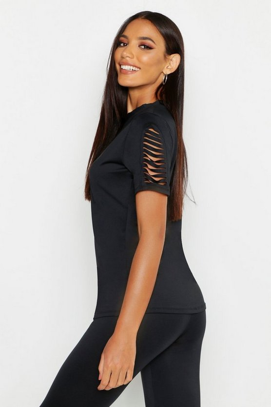 Fit Burnout Sleeve Running Top