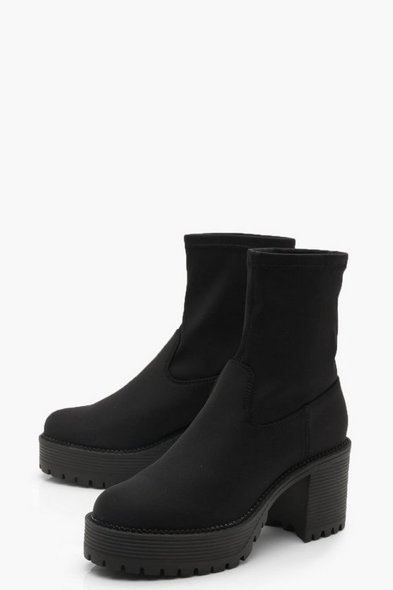 Chunky Cleated Sock Boots