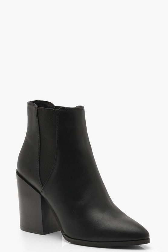 Pointed Chelsea Style Western Boots