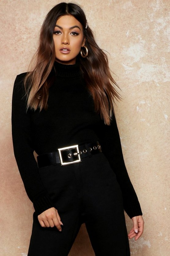 Roll Neck Crop Sweater
