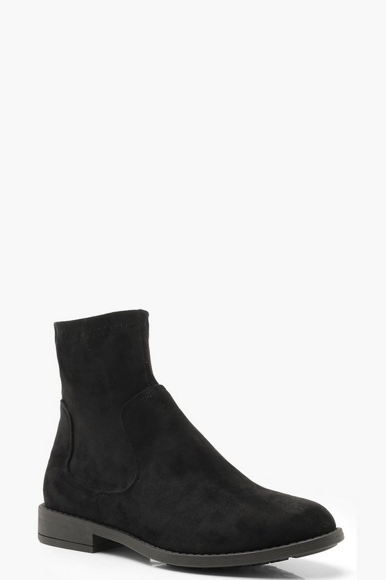 Sock Detail Chelsea Boots
