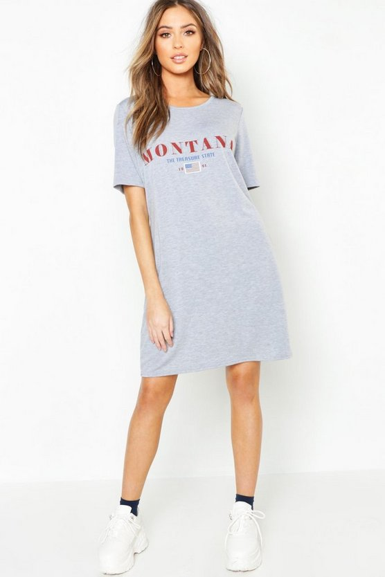 Montana Slogan T-Shirt Dress