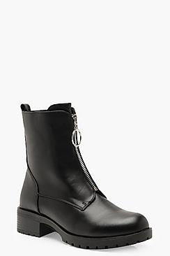 O Ring Pull Biker Boots
