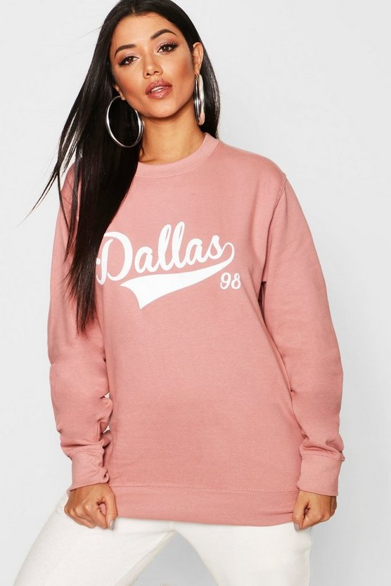 Sweatshirt mit Slogan Dallas