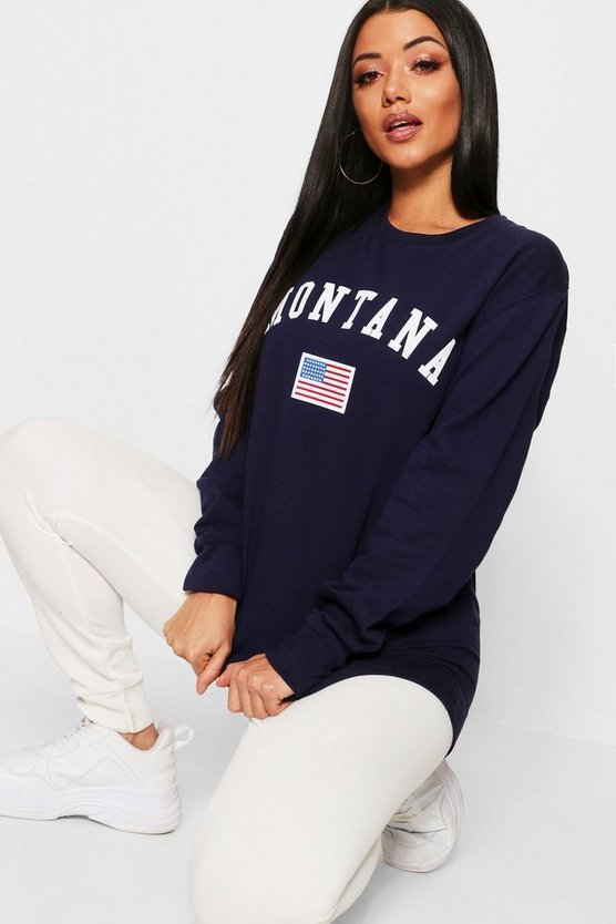Womens Montana Slogan Sweat