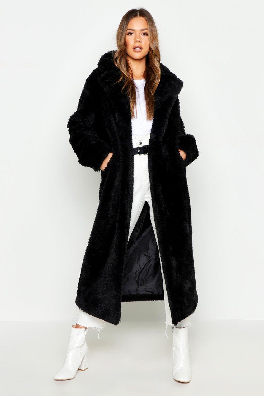 Longline Faux Fur Teddy Coat