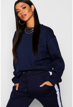 Womens Navy Oversize Sweat
