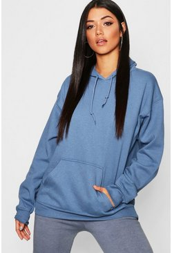 Womens Blue Oversize Hoodie