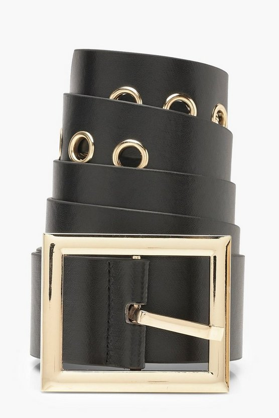 Square Gold Buckle Boyfriend Belt