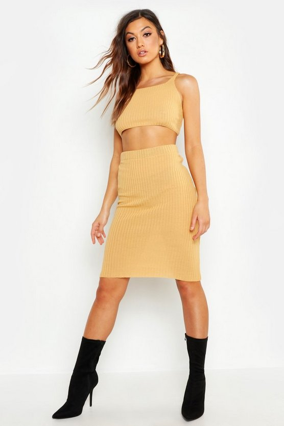 Knitted Midi Skirt Co-ord