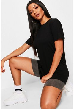 Oversized T-Shirt, Black, Donna