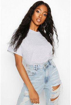Womens Grey marl Oversized T-Shirt