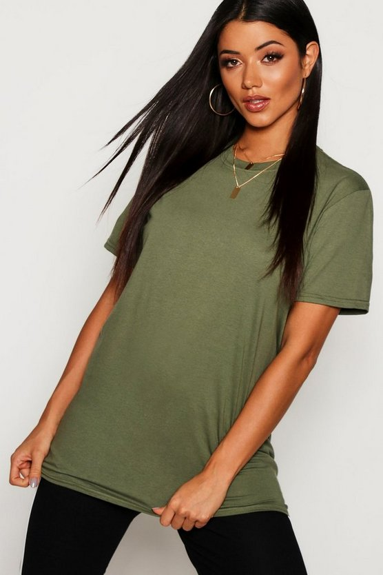 Womens Military green Oversized T-Shirt
