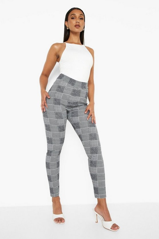 Dogtooth Check Skinny Trousers