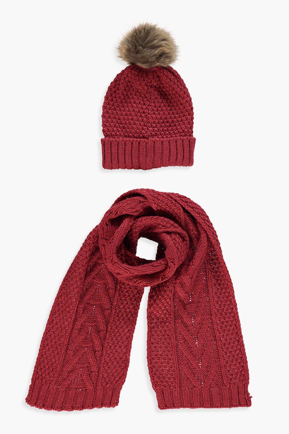 Cable Knit Hat   Scarf Set. Hover to zoom 7919f9dd5d7