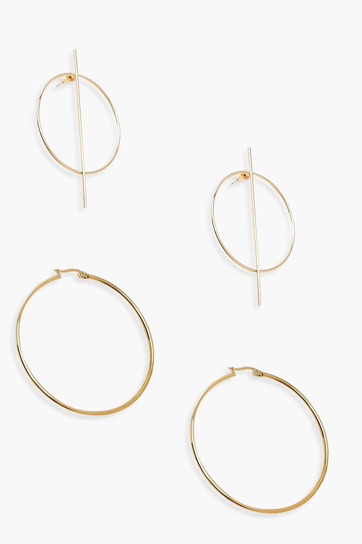 Circle & Bar 6cm Hoop Pack