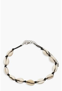 Womens Cream Shell Choker Necklace