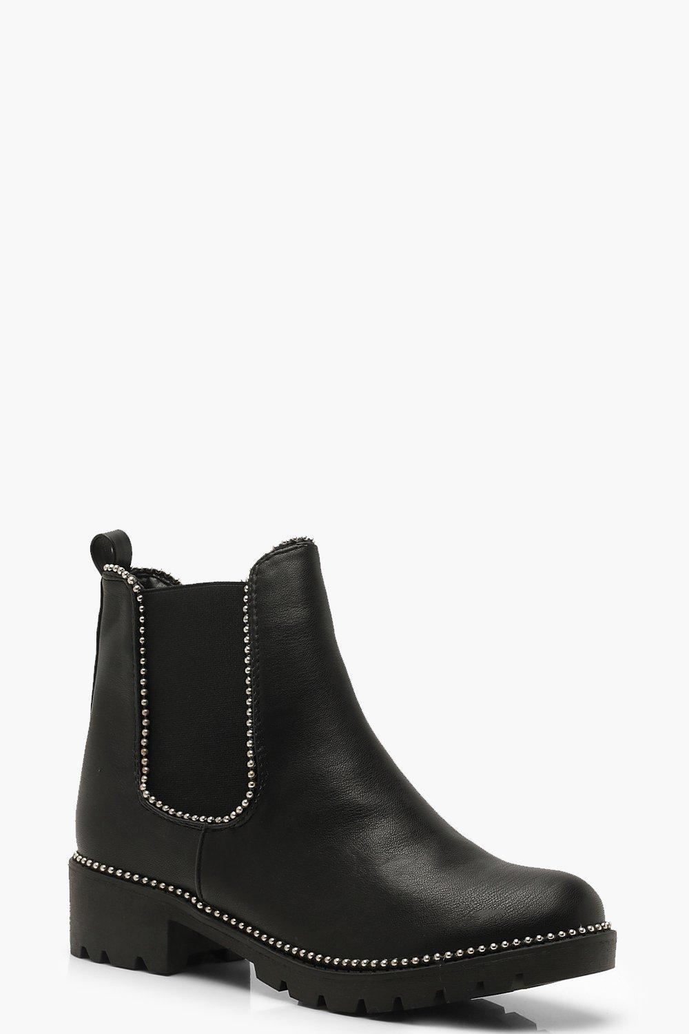 Stud Detail Chunky Chelsea Boots