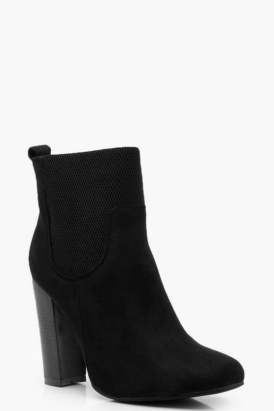 Loop Back Elastic Gusset Shoe Boots