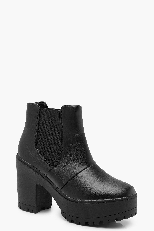 Chunky Platform Heel Chelsea Boots