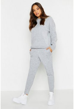 Womens Grey Hooded Knitted Set