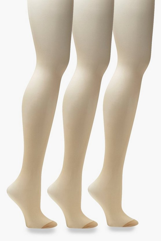 Nudes Collection 20 Denier 3 Pack Tights - Natural