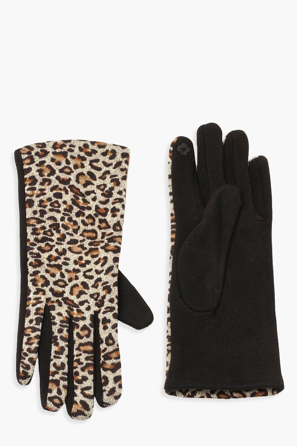 All Over Leopard Gloves