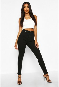 Womens Black High Waist Skinny Jeans