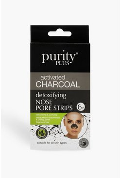 Womens Black Purity Plus Charcoal Pore Strips