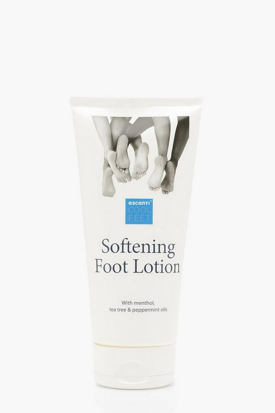 Womens White Escenti Cool Feet Softening Lotion
